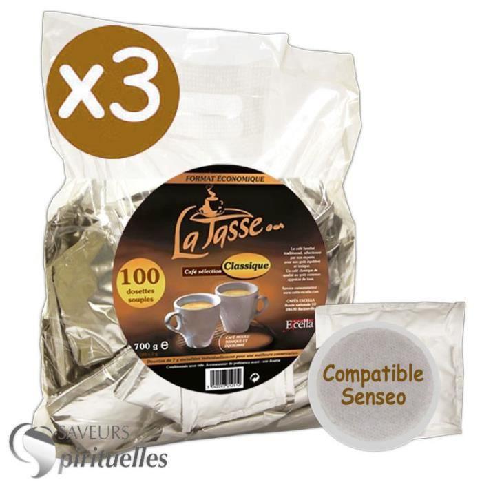 dosettes caf latasse compatibles senseo x 300 achat. Black Bedroom Furniture Sets. Home Design Ideas