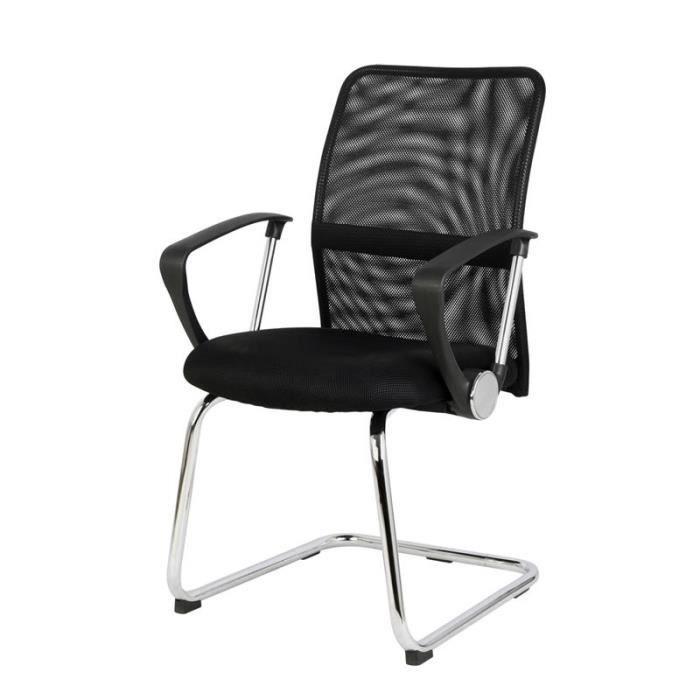 chaise de r union monaco achat vente chaise de bureau noir cdiscount. Black Bedroom Furniture Sets. Home Design Ideas
