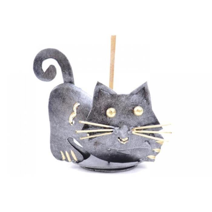 Br le encens en fer forg motif chat achat vente porte encens cdiscount for Model porte en fer forge