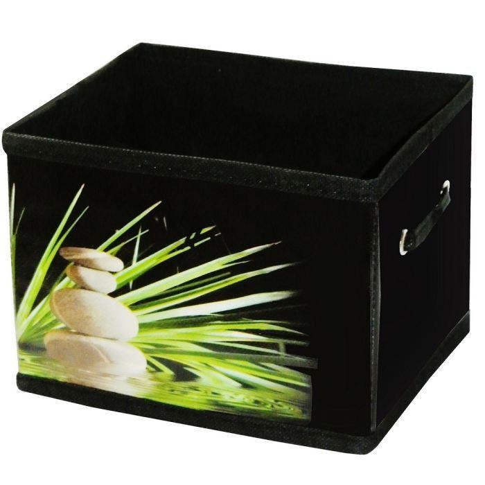 boite panier rangement pliable deco nature zen achat vente boite de rangement bambou. Black Bedroom Furniture Sets. Home Design Ideas