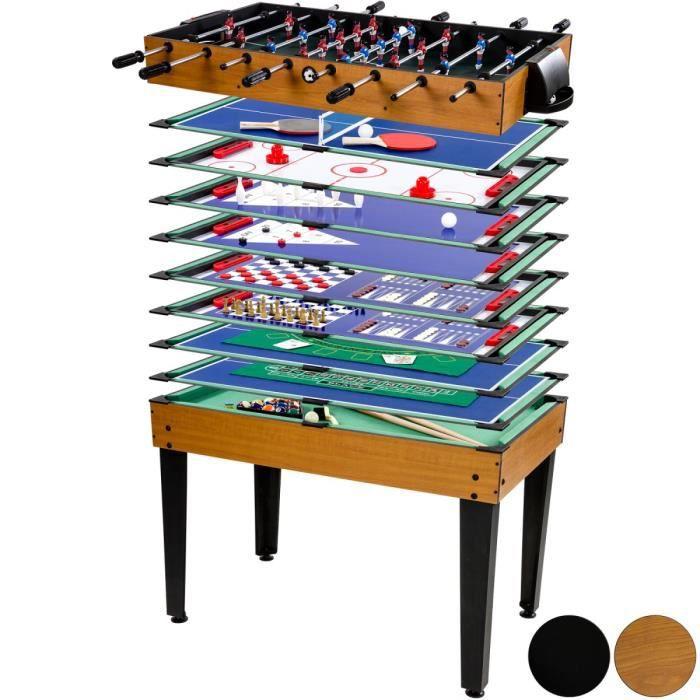 multi jeux de table mega 15 en 1 noir achat vente billard multi jeux de table mega. Black Bedroom Furniture Sets. Home Design Ideas