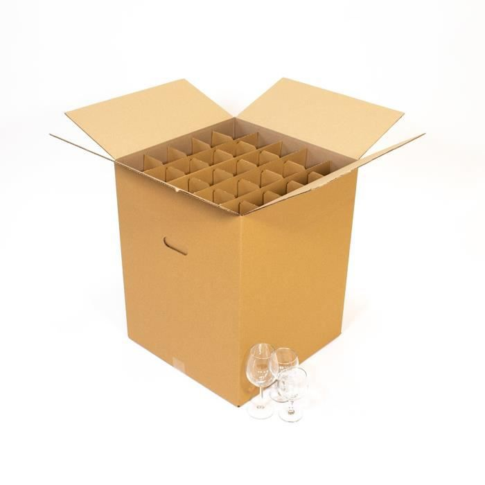 carton vaisselle pour 75 verres achat vente caisse demenagement soldes cdiscount. Black Bedroom Furniture Sets. Home Design Ideas