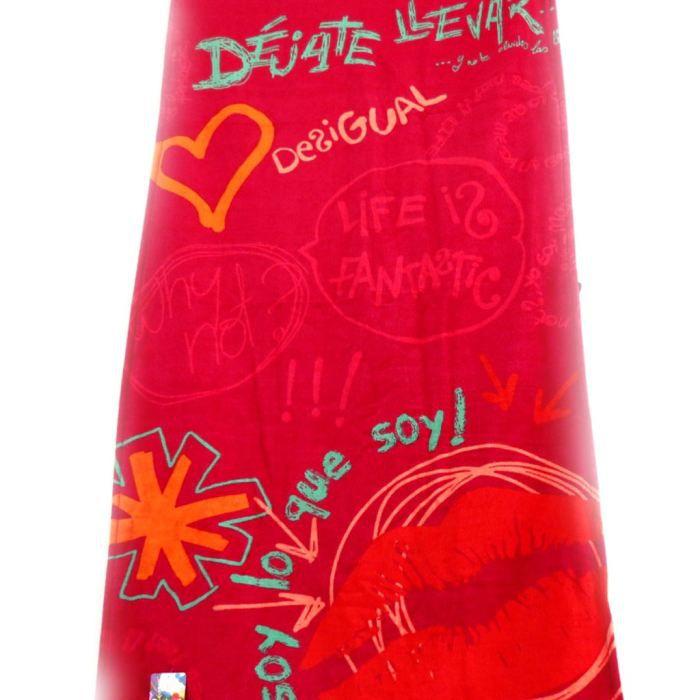 drap de plage cr ateur desigual rouge rose 8 achat vente drap de plage cr ateur des. Black Bedroom Furniture Sets. Home Design Ideas