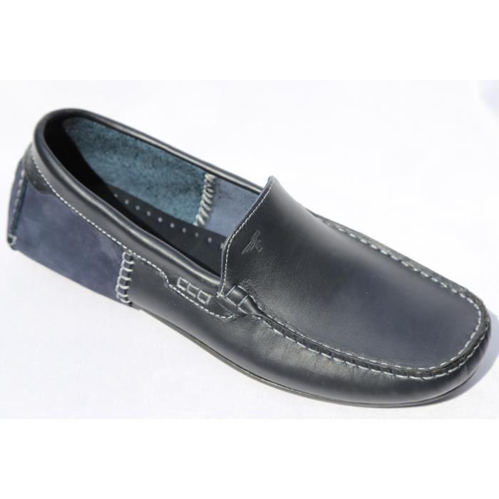 chaussures homme mocassin cuir bleu marine bleu bleu marine achat vente mocassin cdiscount. Black Bedroom Furniture Sets. Home Design Ideas