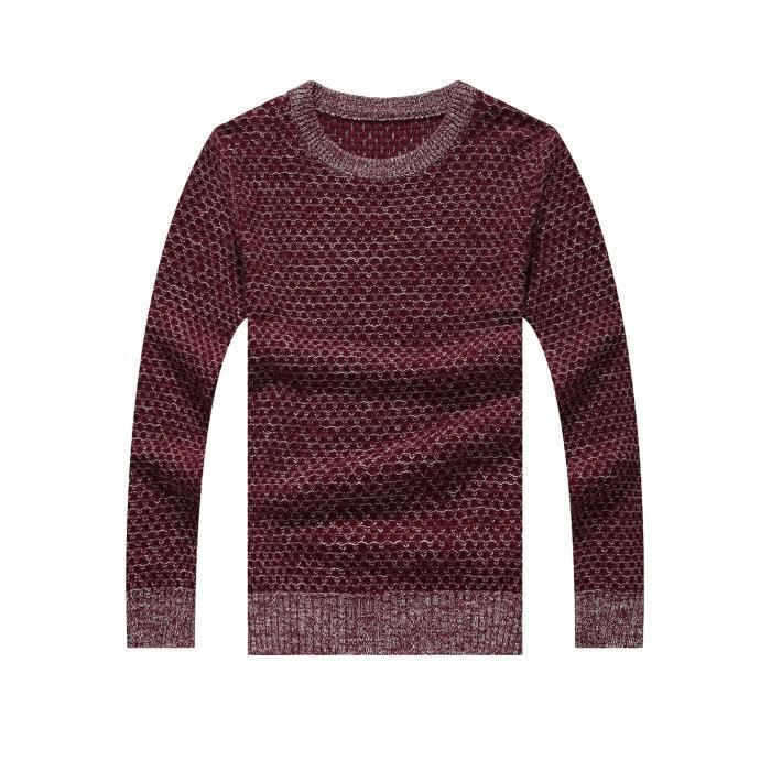 sweat pull sweater col rond homme vintage chaud rouge. Black Bedroom Furniture Sets. Home Design Ideas