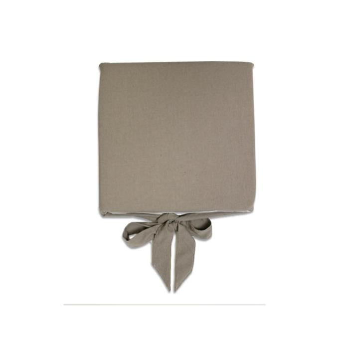 Dessus de chaise coton fer forg melanie taupe achat for Galette de chaise taupe