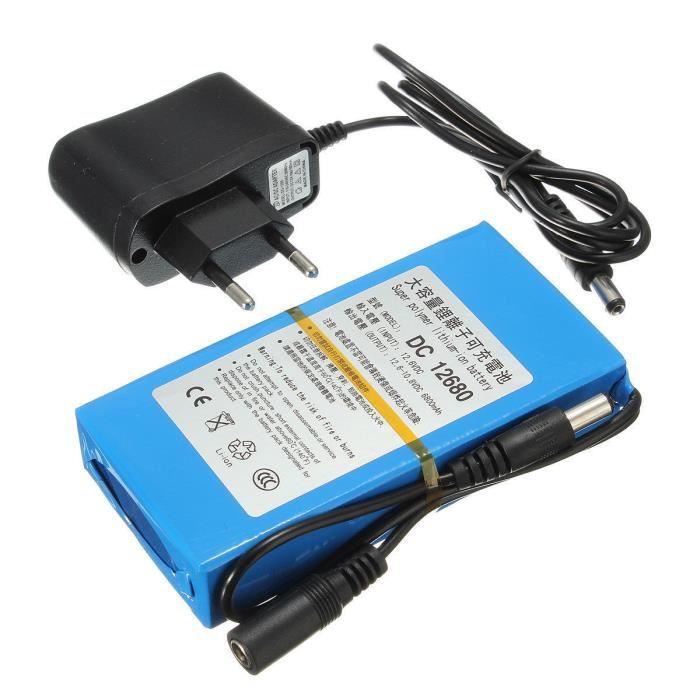 batterie rechargeable 12v li ion 6800mah chargeur battery accus accu lithium prix pas cher. Black Bedroom Furniture Sets. Home Design Ideas