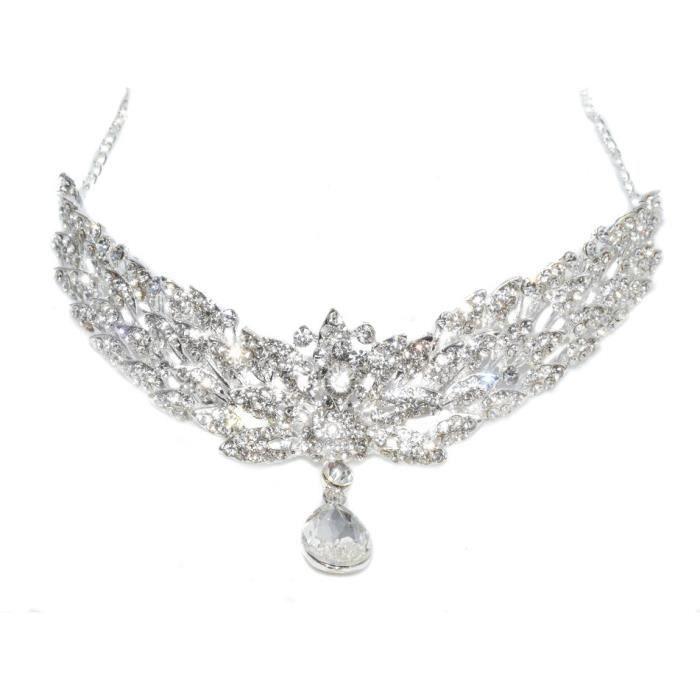 bijoux collier de front strass pour mariage ou un henn achat vente bandeau serre t te. Black Bedroom Furniture Sets. Home Design Ideas