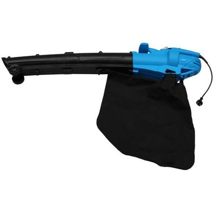 3 en 1 souffleur aspirateur et broyeur de feuilles lectrique 2000w varanmotors bleu achat - Aspirateur souffleur broyeur brico depot ...