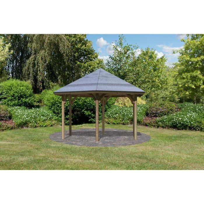 Pavillon de jardin Bois 324x370 cm OSLO 2 - Achat / Vente ...