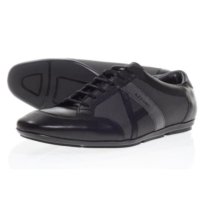 chaussure azzaro jerry noir homme noir achat vente jerry noir homme pas cher cdiscount. Black Bedroom Furniture Sets. Home Design Ideas