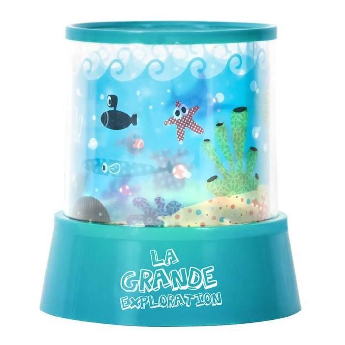 lampe veilleuse projecteur led enfants d cor aq bleu achat vente veilleuse b b cdiscount. Black Bedroom Furniture Sets. Home Design Ideas