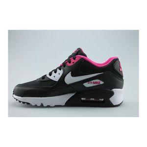 BASKET Nike Air Max 90 Mesh Junior Noir