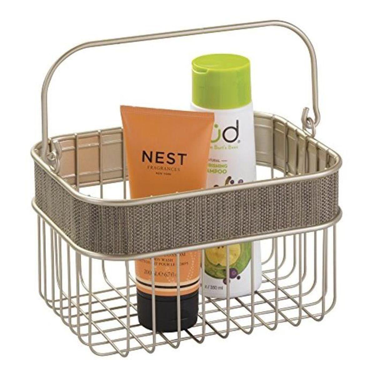 Interdesign 32988eu twillo panier de rangement pour salle - Panier pour salle de bain ...