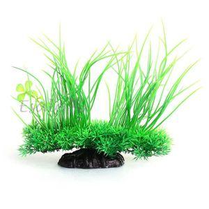 plante artificielle herbe aquatique plastique vert decoration aquarium achat vente plante
