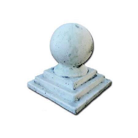 chapeau de pilier boule sur socle carr achat vente statue statuette chapeau de pilier. Black Bedroom Furniture Sets. Home Design Ideas