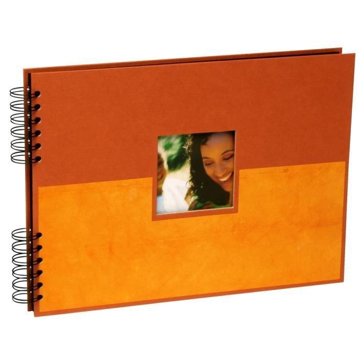 panodia album photo traditionnel zinia orange 31x23 cm 60 pages noires achat vente album. Black Bedroom Furniture Sets. Home Design Ideas