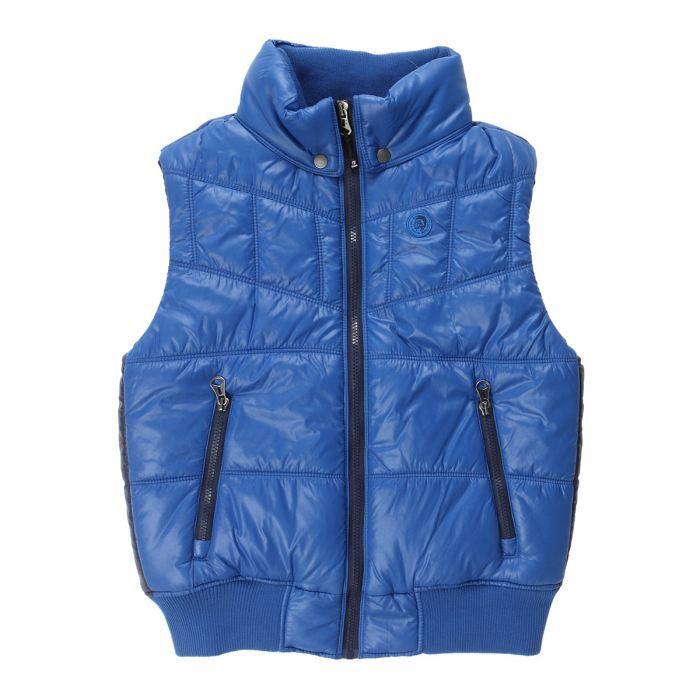 diesel doudoune sans manches gar on bleu achat vente veste diesel doudoune sans manches. Black Bedroom Furniture Sets. Home Design Ideas