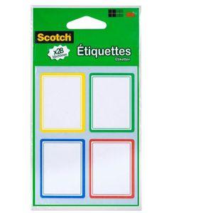 SCOTCH 28 Etiquettes Ecoliers