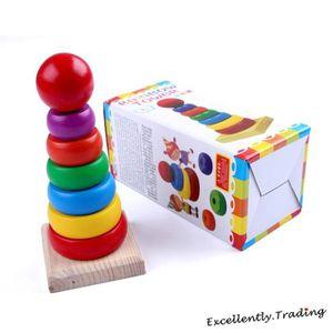 jouets en bois a empiler achat vente jeux et jouets pas chers. Black Bedroom Furniture Sets. Home Design Ideas