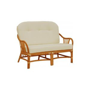 Canape rotin 2 places achat vente canape rotin 2 for Canape avec coussin