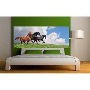 Papier peint Tête de lit Chevaux 3635 Dimensions 280x110cm Papier