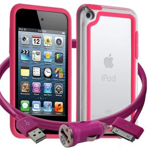 COQUE MP3-MP4 Coque iPod Touch 4G + chargeur auto