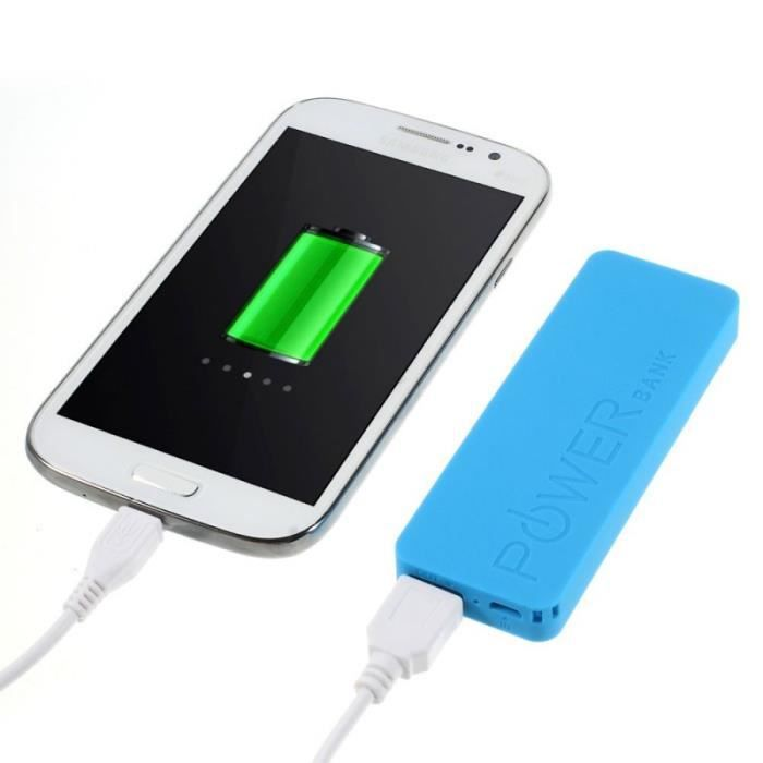 batterie externe power bank orange 3000mah bleue micro usb achat vente batterie externe. Black Bedroom Furniture Sets. Home Design Ideas