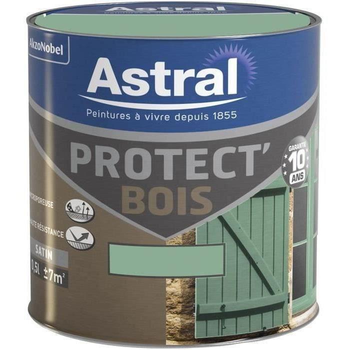 ASTRAL PROTECT BOIS SAT. 0.5L VERT PROVENCE - Achat / Vente peinture ...