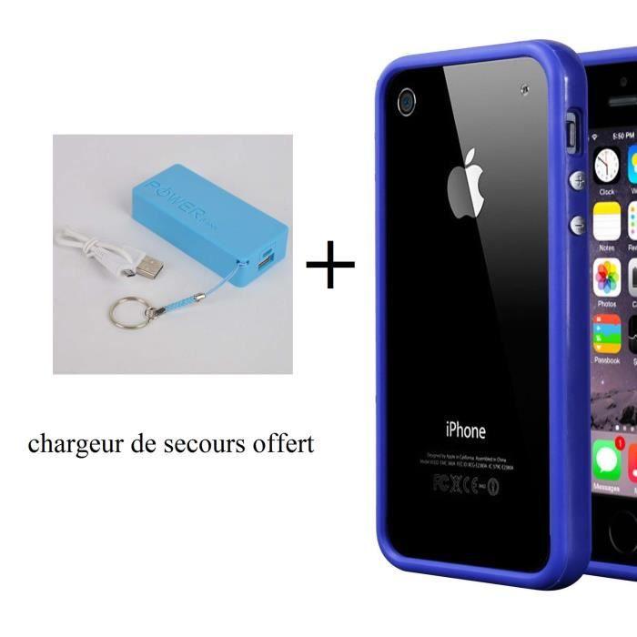 bumper iphone 6 plus bleu chargeur de secours offert achat coque bumper pas cher avis et. Black Bedroom Furniture Sets. Home Design Ideas