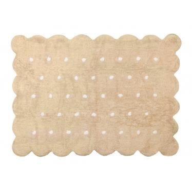 tapis biscuit en coton beige et blanc lavable achat vente tapis veil aire b b. Black Bedroom Furniture Sets. Home Design Ideas