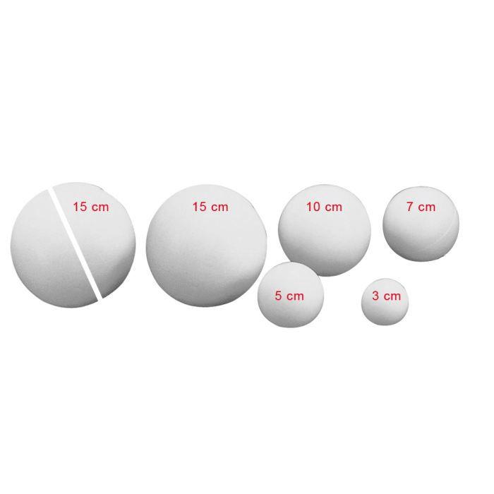 boule polystyr ne 10 cm pleine rayher achat vente support d corer boule. Black Bedroom Furniture Sets. Home Design Ideas