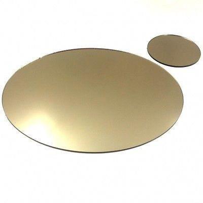 8 napperons ovales miroir de bronze et sous verres achat for Miroir acrylique incassable