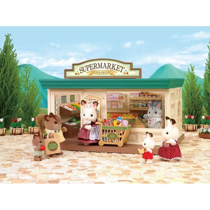 sylvanian families 2887 supermarch achat vente figurine personnage cdiscount. Black Bedroom Furniture Sets. Home Design Ideas