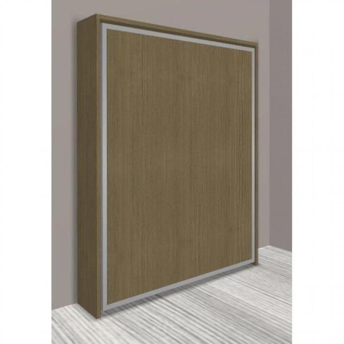 armoire lit escamotable cronos ch ne taupe co achat vente lit escamotable cdiscount. Black Bedroom Furniture Sets. Home Design Ideas