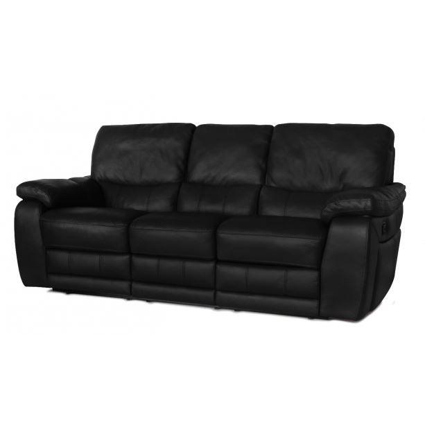 Canap relaxation en cuir select noir achat vente for Entretenir son canape en cuir