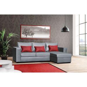 coussin rouge et gris achat vente coussin rouge et gris pas cher soldes cdiscount. Black Bedroom Furniture Sets. Home Design Ideas