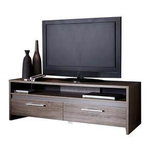 meuble tv bois fonce achat vente meuble tv bois fonce pas cher les soldes sur cdiscount. Black Bedroom Furniture Sets. Home Design Ideas