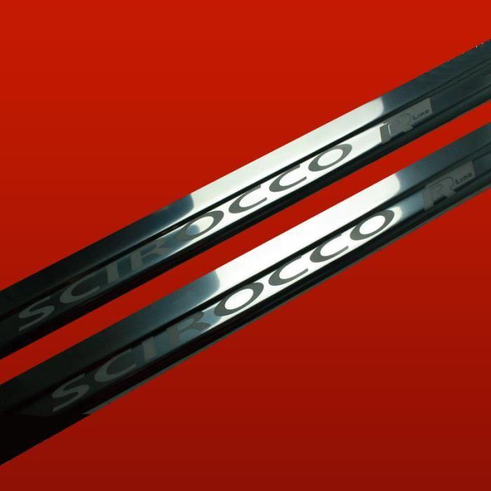 vw scirocco rline phase3 seuil de porte en acier inox qualite sup brillant 410265 achat