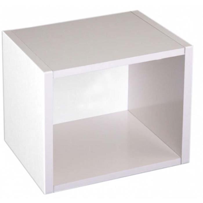 Etag re cube standregal m73 coloris blanc dim h40 x l34 x p29 cm achat - Etagere escalier blanc ...