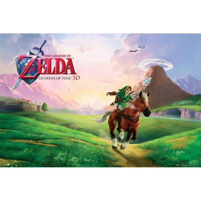 Poster la l gende de zelda ocarina of time nintendo for Achat maison zelda