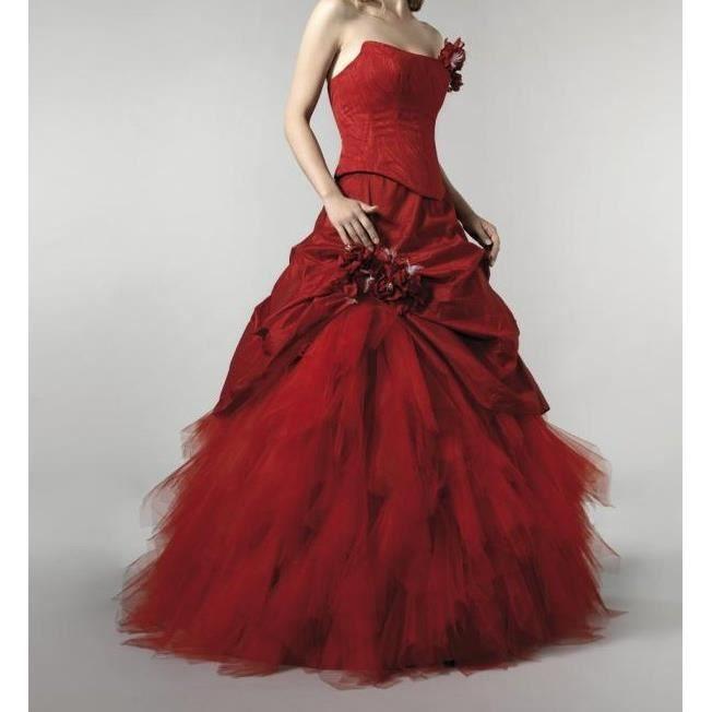 ... tulle Classerobes rouge - Achat / Vente robe Robe de mariée princesse