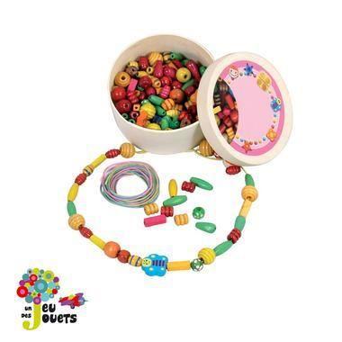 Boite de perles en bois a enfiler pour enfant f achat - Perle pour enfant ...