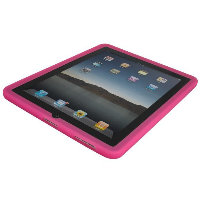 Orzly housse silicone apple ipad rose prix pas cher for Prix housse ipad