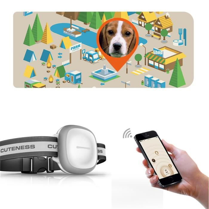 collier localisateur gps animaux de compagnie chien chat traceur tanche surveillance distance. Black Bedroom Furniture Sets. Home Design Ideas