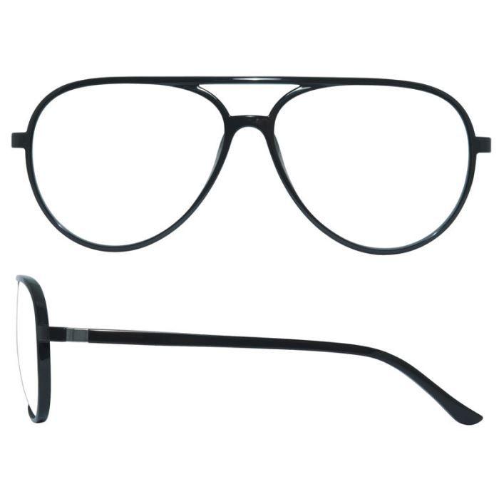 lunettes de vue monture optique aviateur pilot noir achat vente lunettes de vue lunettes de. Black Bedroom Furniture Sets. Home Design Ideas