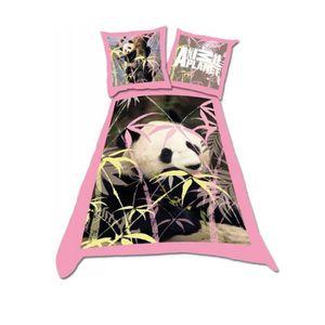 parure de lit panda achat vente parure de lit panda. Black Bedroom Furniture Sets. Home Design Ideas