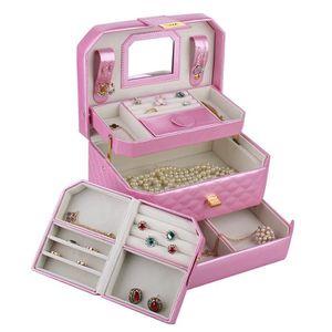 BOITE A BIJOUX Boîte à bijoux  avec petite mallette Rose Boîte à