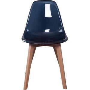CHAISE Chaise scandinave - Transparent - Noir