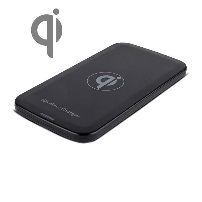 chargeur de batterie sans fil qi noir achat chargeur t l phone pas cher avis et meilleur. Black Bedroom Furniture Sets. Home Design Ideas